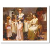 "Pino (1939-2010) ""The Gathering"" Limited Edition Giclee. Numbered and Hand Signe"