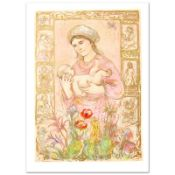 """""""Raquela"""" Limited Edition Lithograph by Edna Hibel (1917-2014), Numbered and Han"""