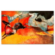 """Edwin Salomon, """"Summer Dance"""" Hand Signed Limited Edition Serigraph with Letter"""