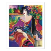"""Patricia Govezensky, """"Flower Shop"""" Hand Signed Limited Edition Giclee on Canvas"""