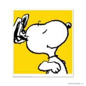 """Peanuts, """"Snoopy: Yellow"""" Hand Numbered Limited Edition Fine Art Print with Cert"""