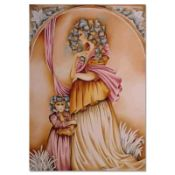 """Haya Ran, """"The Nanny"""" Hand Signed Limited Edition Serigraph with Letter of Authe"""