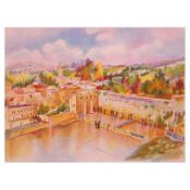 """Zina Roitman, """"Jerusalem"""" Hand Signed Limited Edition Serigraph with Letter of A"""