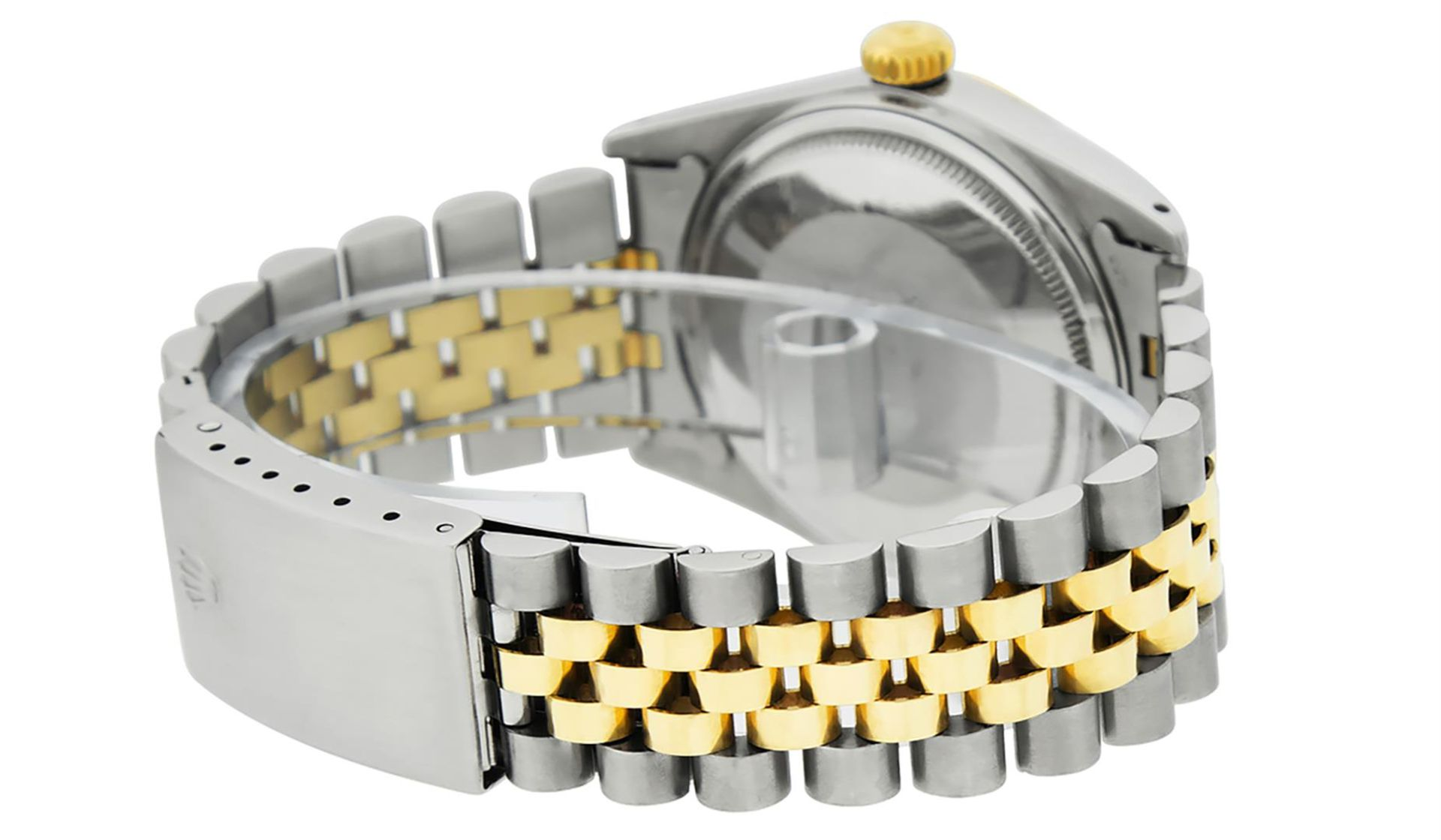 Rolex Mens 2 Tone Mother Of Pearl Diamond 36MM Oyster Perpetual Datejust - Image 3 of 7