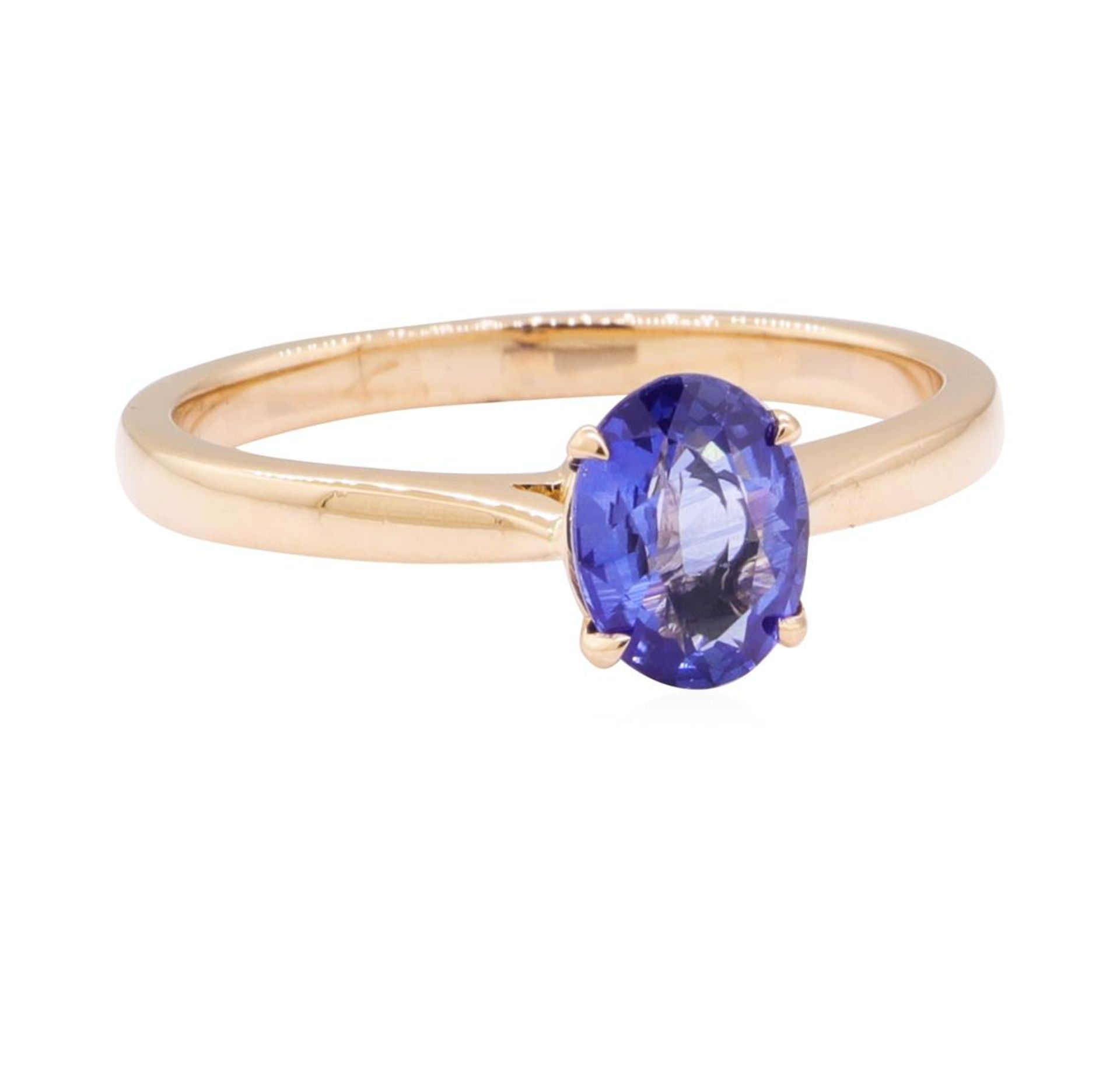 0.98ct Blue Sapphire Ring - 18KT Rose Gold