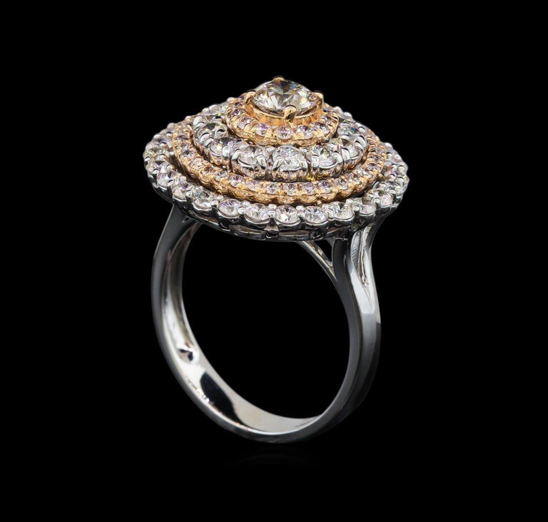 2.53 ctw Diamond Ring - 14KT Rose and White Gold - Image 4 of 6