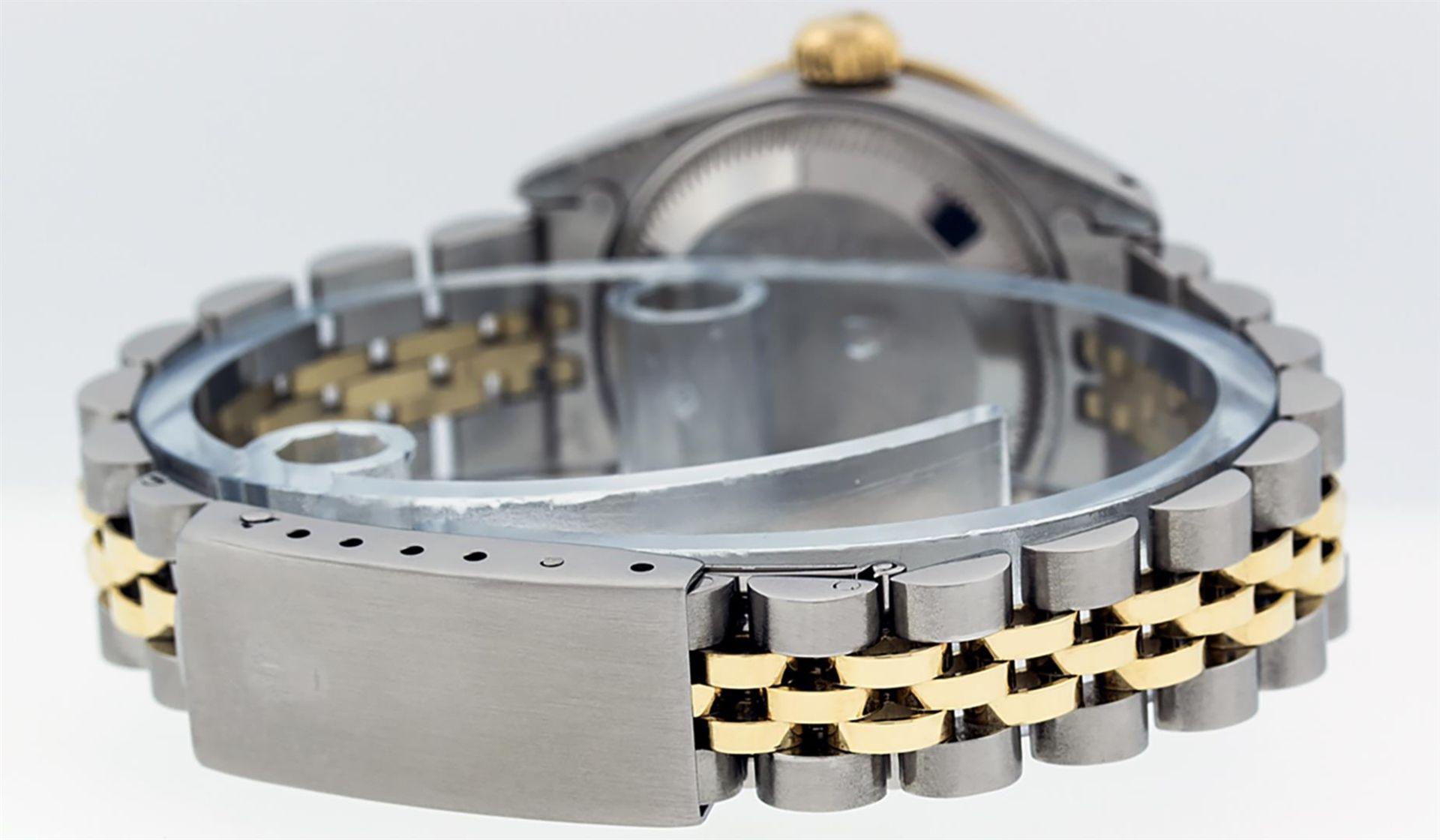 Rolex Ladies 2 Tone Black Lugs & Pyramid Diamond Datejust Wriswatch - Image 4 of 7