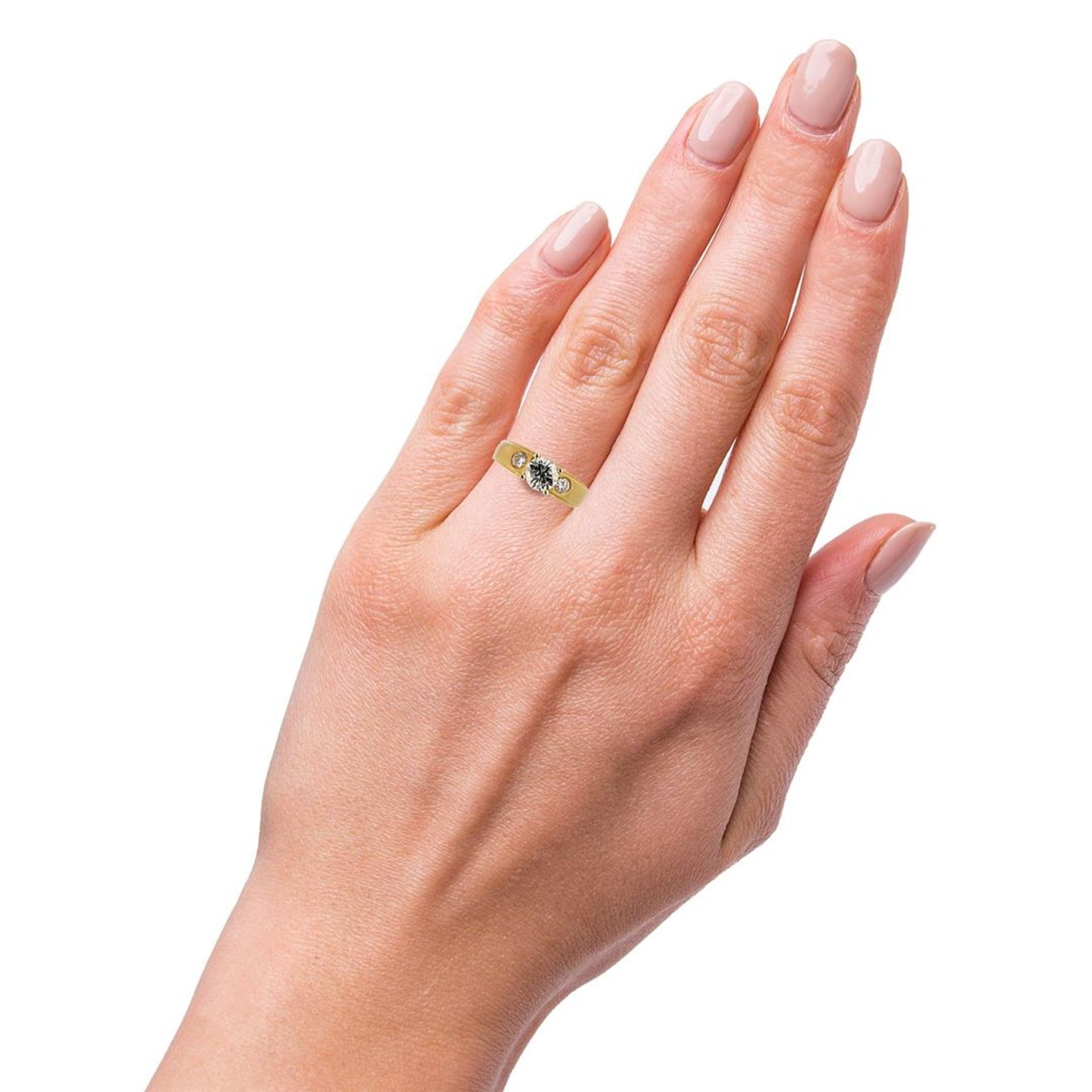 0.97ct SI2 Diamond 18K Yellow Gold Unity Ring (1.26ctw Diamonds) - Image 3 of 4