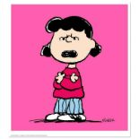 "Peanuts, ""Lucy: Pink"" Hand Numbered Limited Edition Fine Art Print with Certific"