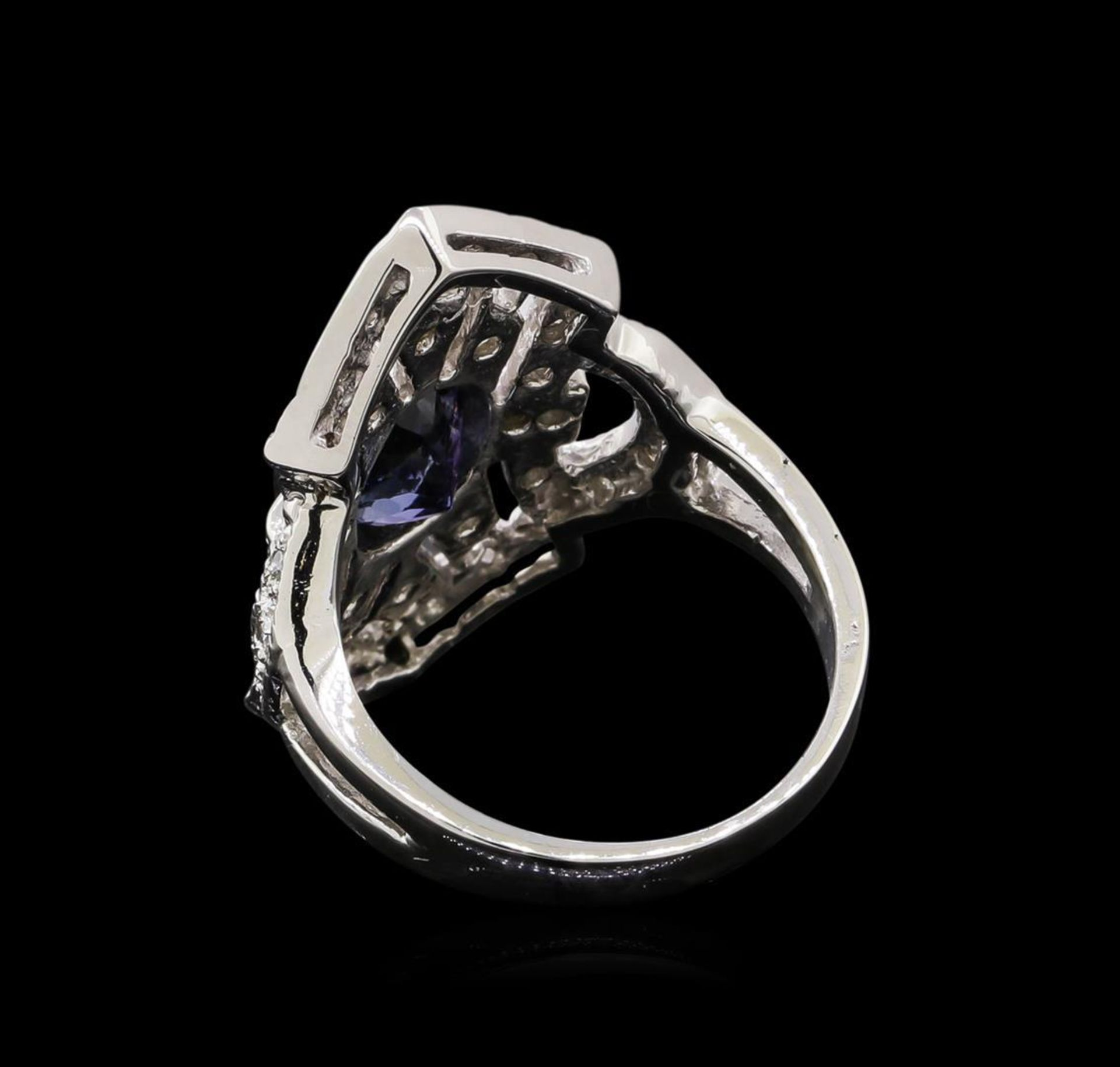 1.84 ctw Tanzanite and Diamond Ring - 14KT White Gold - Image 3 of 5