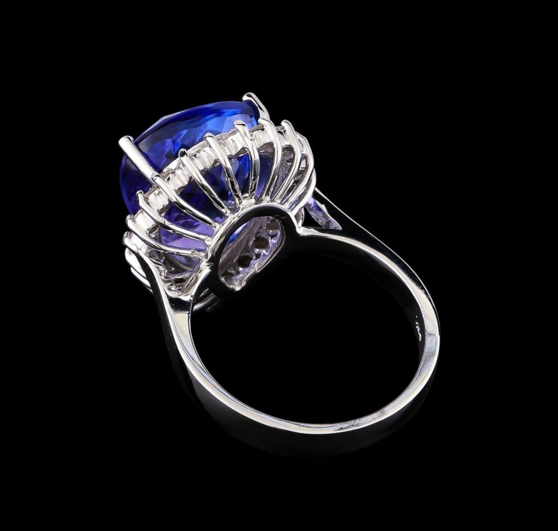11.38 ctw Tanzanite and Diamond Ring - 14KT White Gold - Image 3 of 5