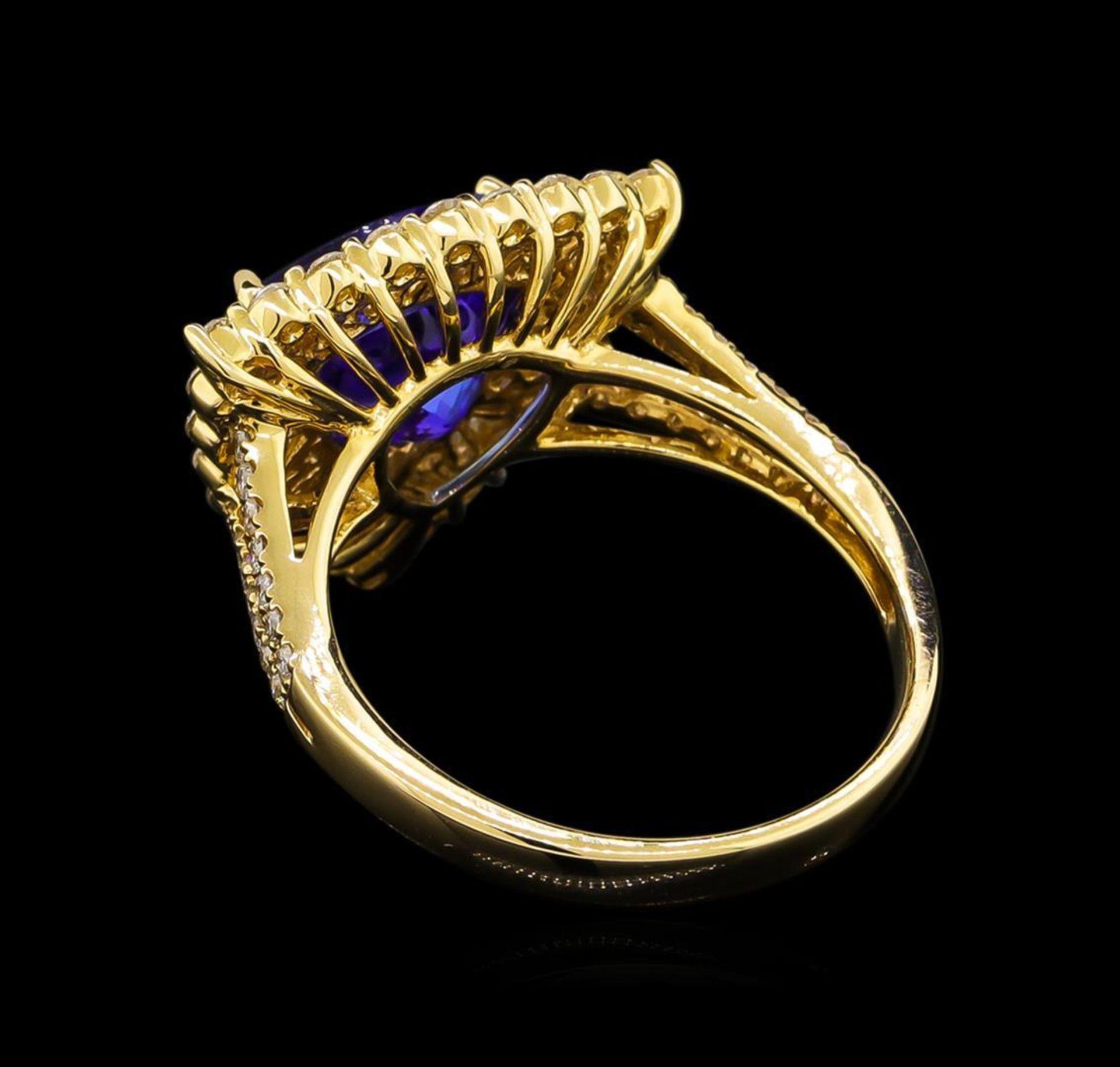 14KT Yellow Gold 2.86 ctw Tanzanite and Diamond Ring - Image 3 of 5