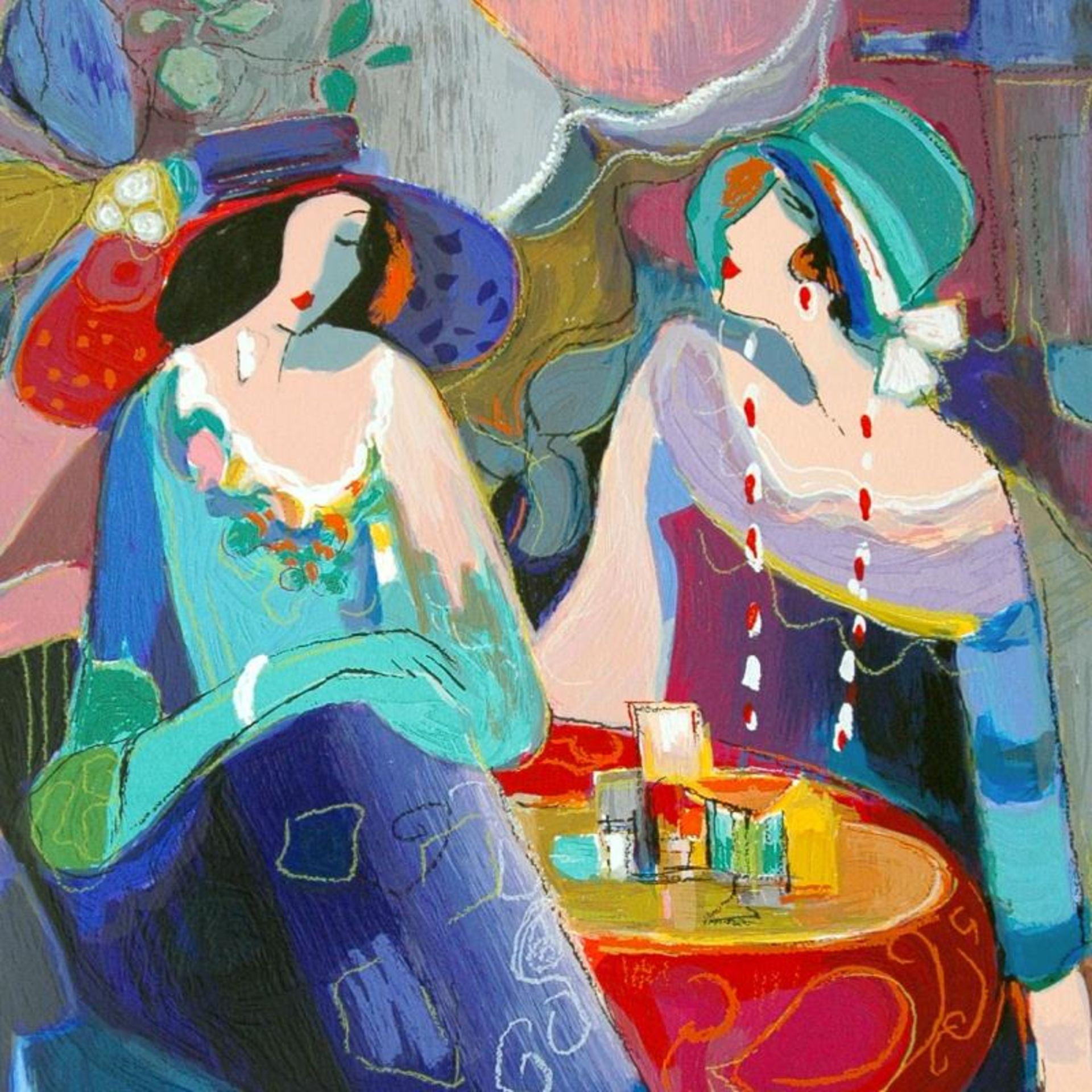 """Isaac Maimon, """"Pastel Gathering"""" Limited Edition Serigraph, Numbered and Hand Si - Image 2 of 2"""