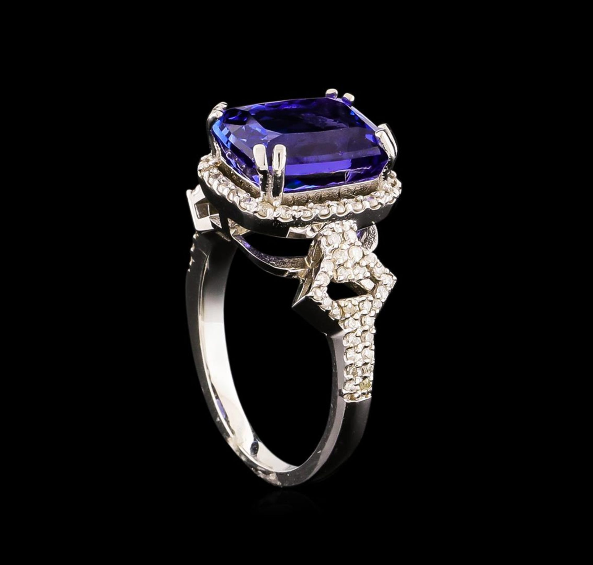 14KT White Gold 3.40 ctw Tanzanite and Diamond Ring - Image 4 of 5