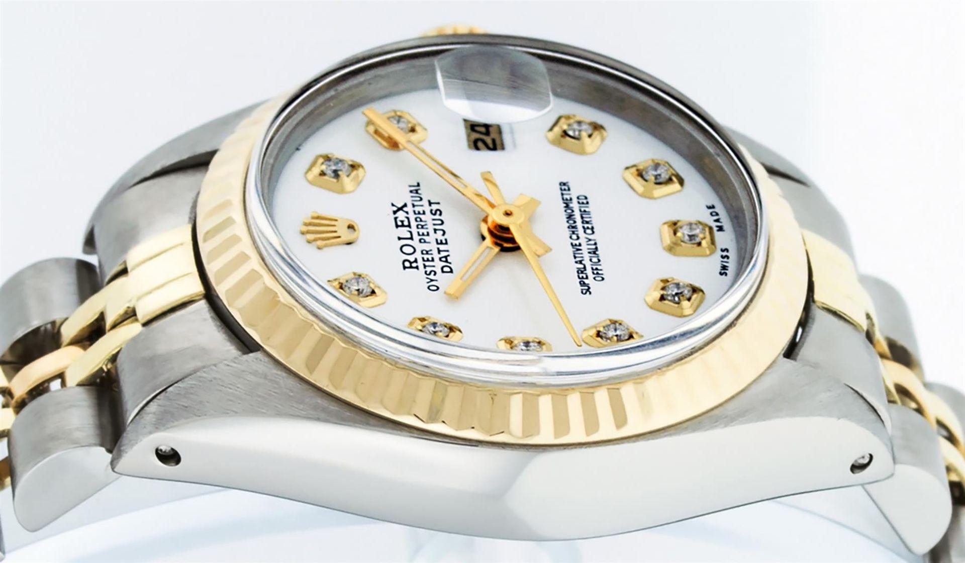 Rolex Ladies 2 Tone White Diamond 26MM Datejust Wristwatch - Image 5 of 8