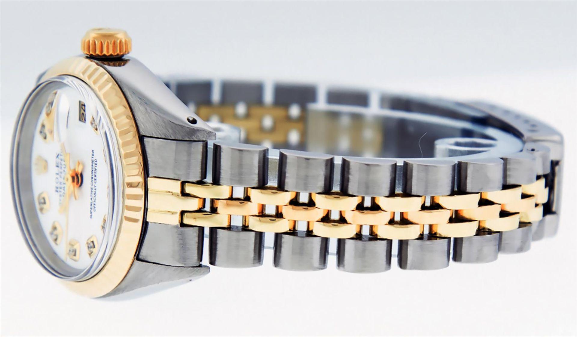 Rolex Ladies 2 Tone White Diamond 26MM Datejust Wristwatch - Image 4 of 8