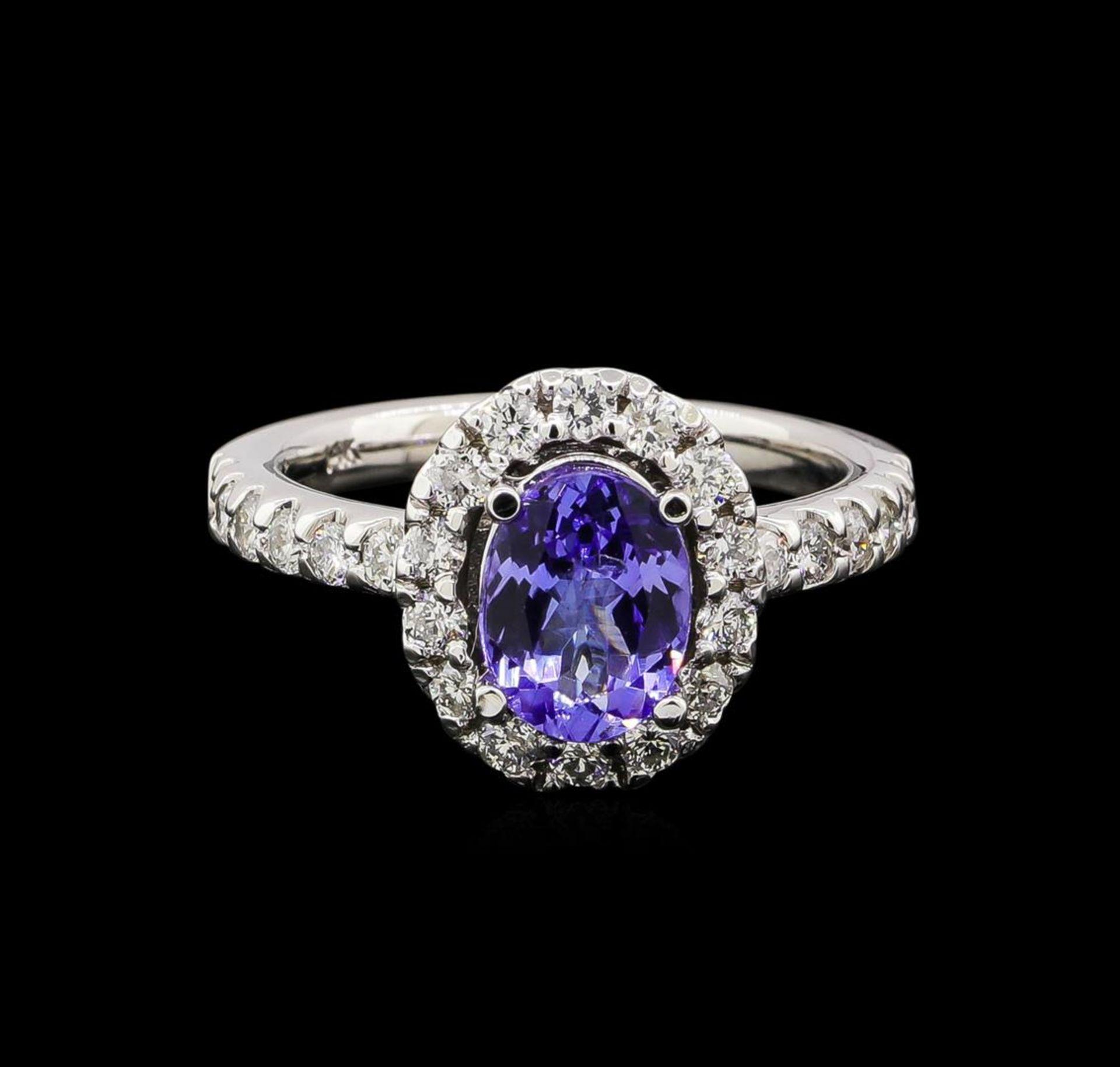 1.56 ctw Tanzanite and Diamond Ring - 14KT White Gold - Image 2 of 4