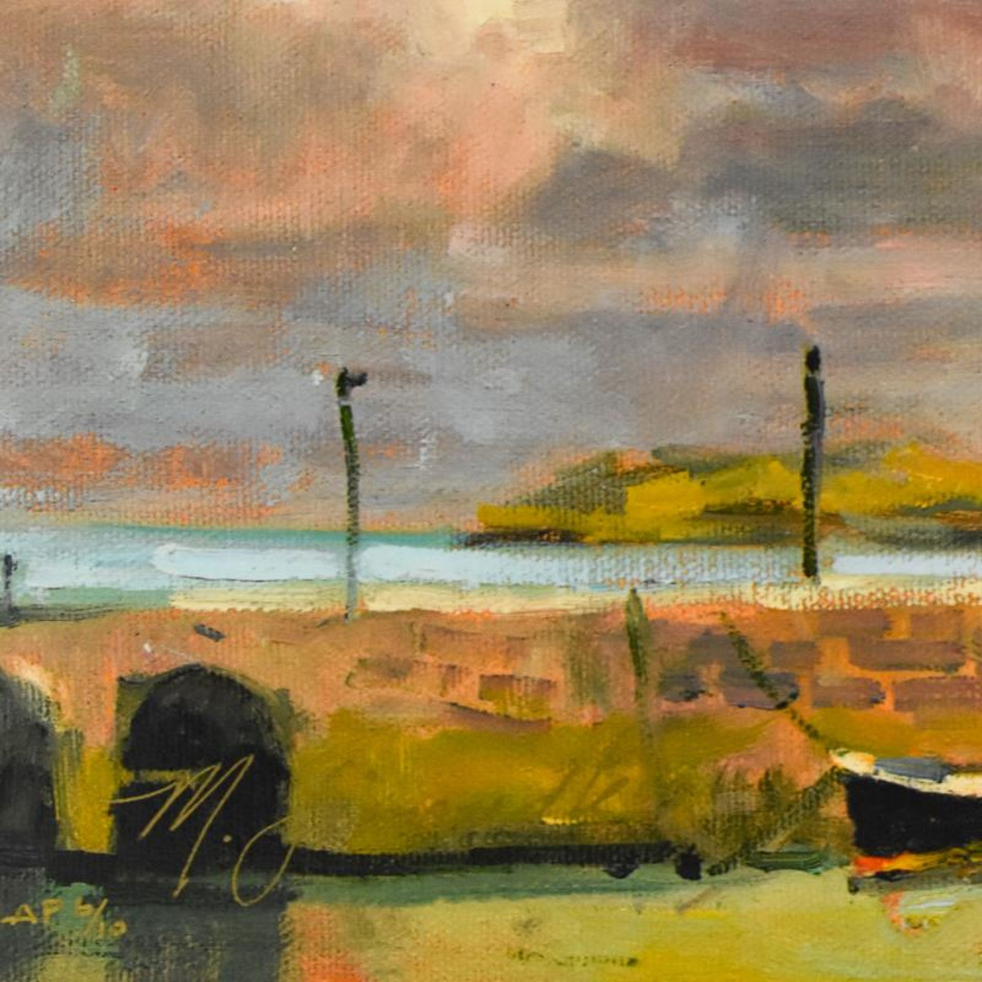 """Marilyn Simandle, """"St. Ives"""" Limited Edition on Canvas, Numbered and Hand Signed - Image 2 of 2"""