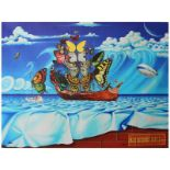 """Anatoliy Keis, """"Salvador Dali Street"""" Hand Signed Limited Edition Giclee on Canv"""