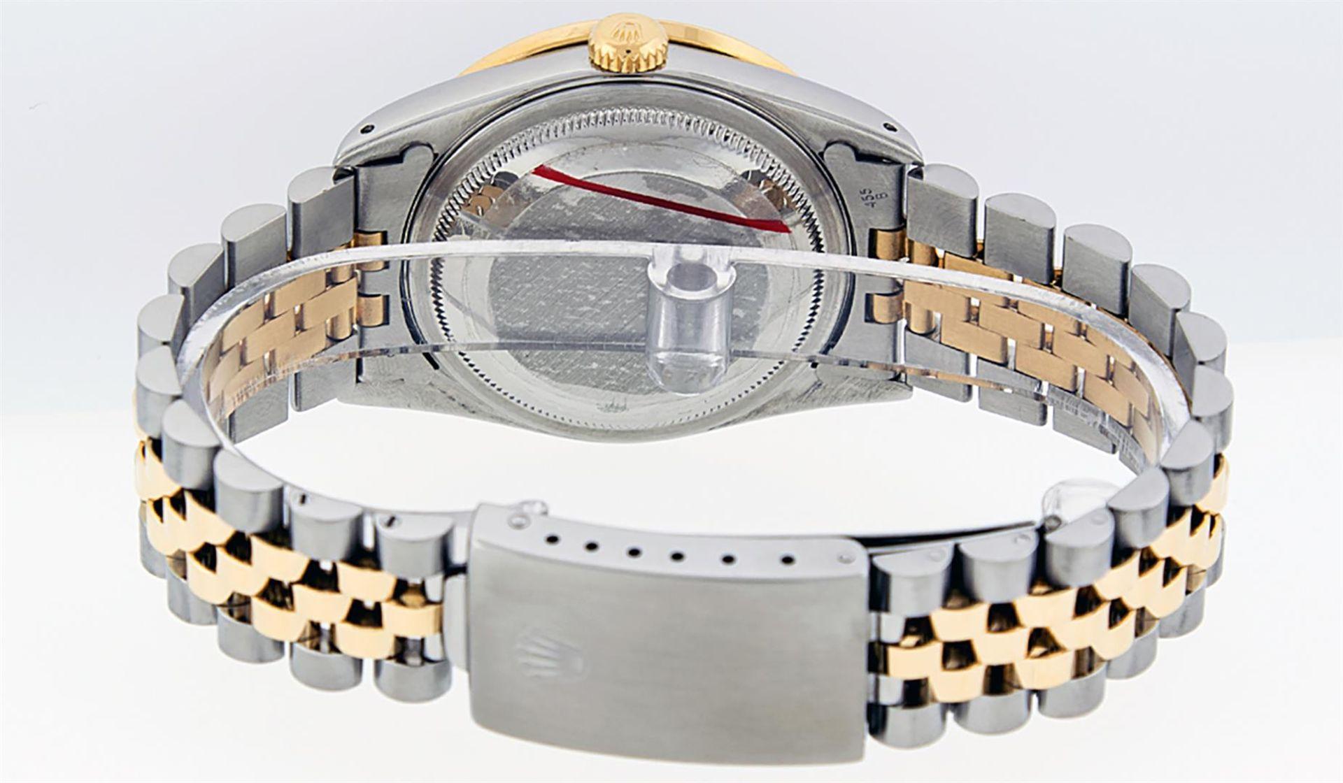 Rolex Mens 2 Tone Blue Vignette String Diamond Lugs Datejust Wristwatch - Image 5 of 8