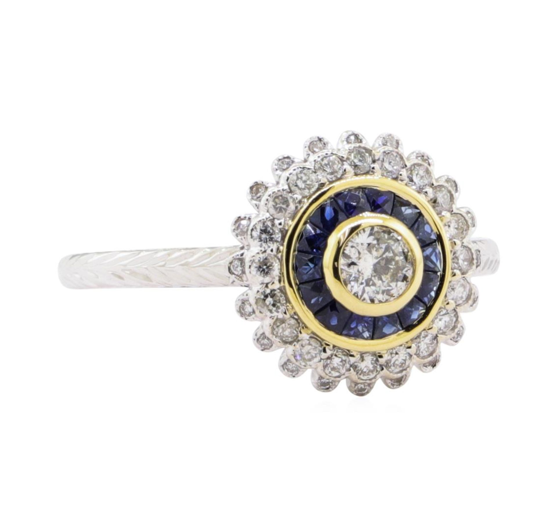 0.44ctw Diamond Ring - 18KT Two-Tone Gold
