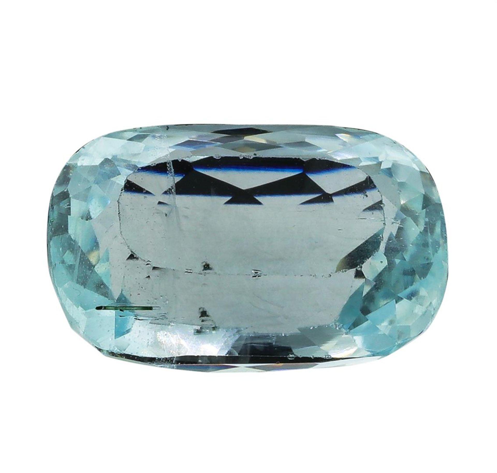 12.41ct.Natural Cushion Cut Aquamarine