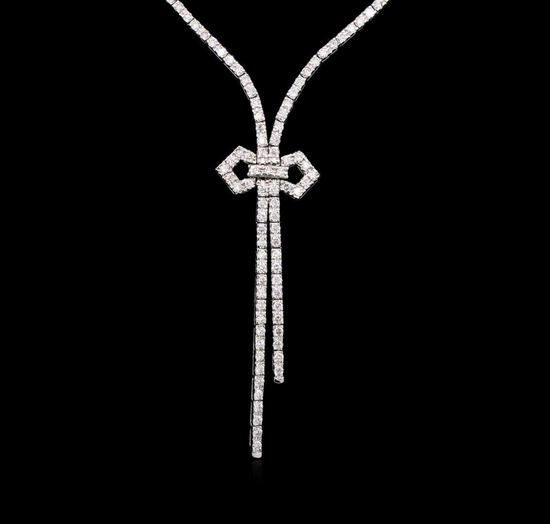2.85 ctw Diamond Necklace - 14KT White Gold - Image 2 of 3