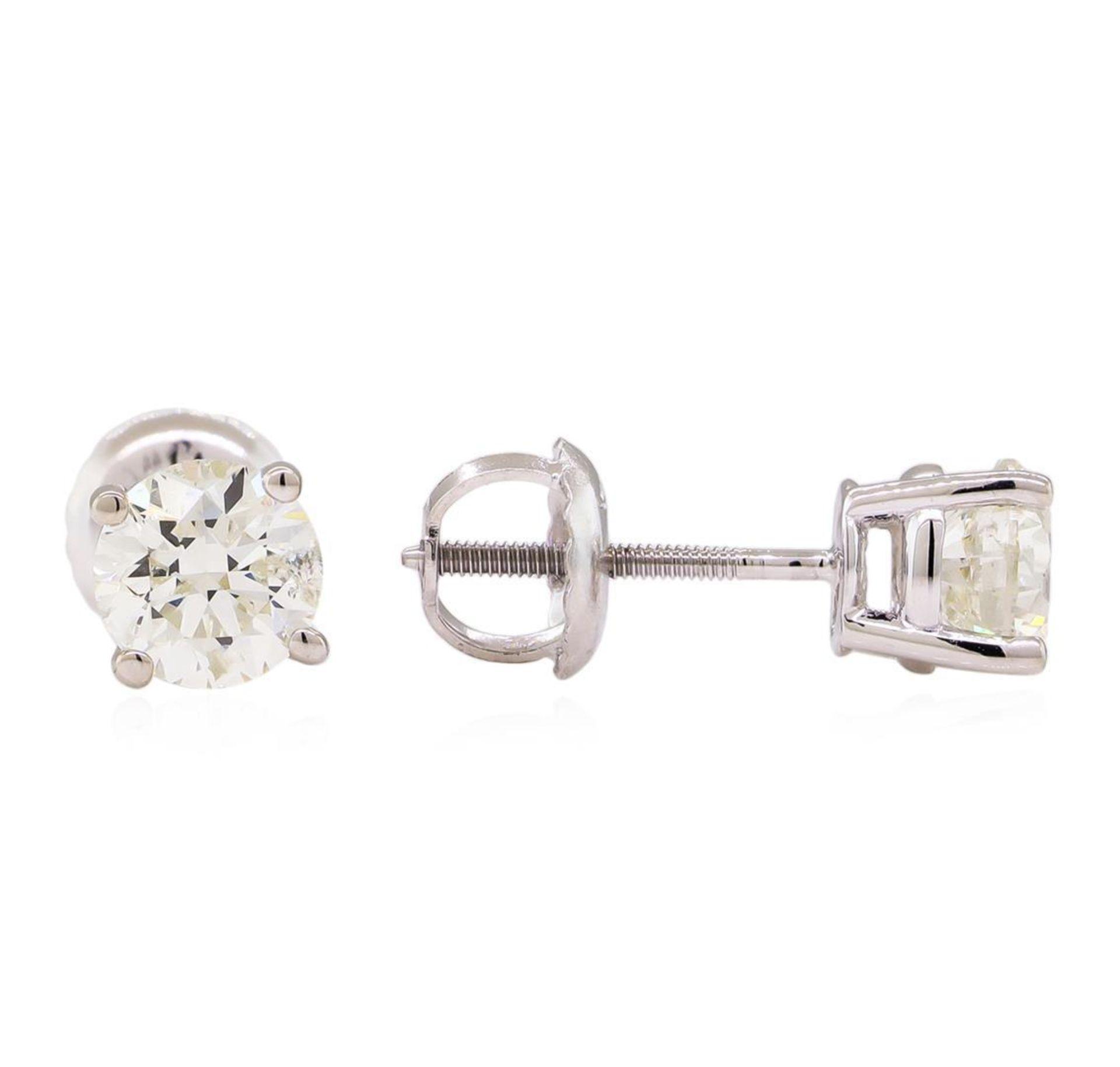 0.97 ctw Diamond Stud Earrings - 14KT White Gold - Image 2 of 3