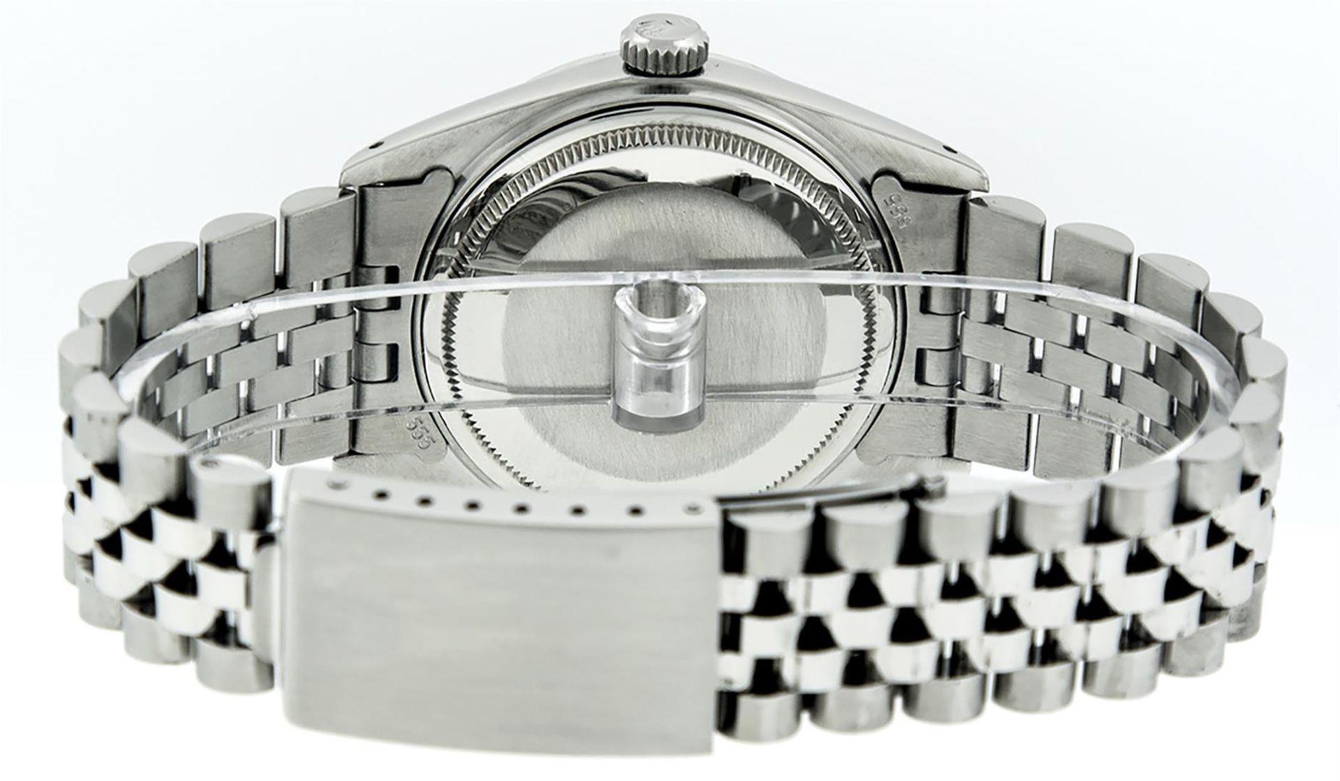 Rolex Mens Stainless Steel Diamond Lugs & Ruby Datejust Wristwatch - Image 8 of 8