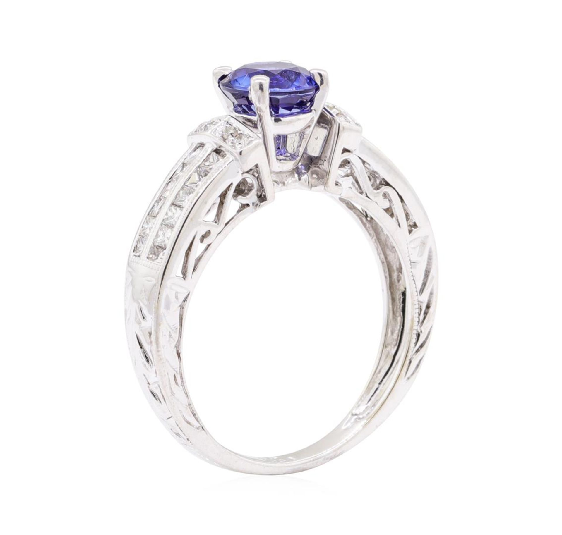 1.36ct Sapphire and Diamond Ring - 14KT White Gold - Image 4 of 4