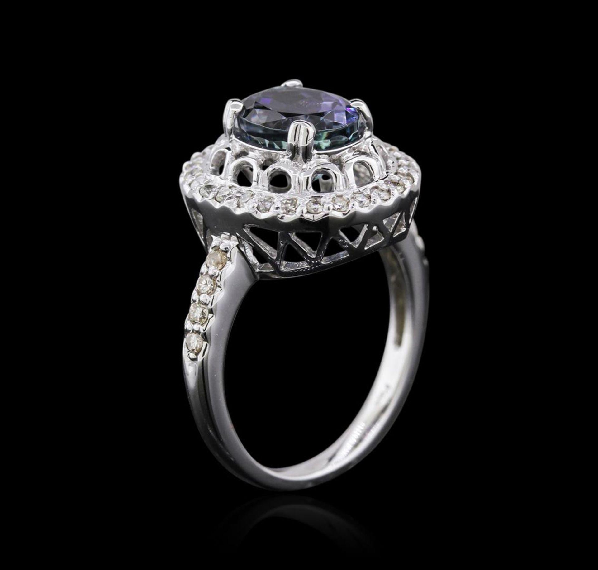 14KT White Gold 2.56 ctw Tanzanite and Diamond Ring - Image 3 of 4