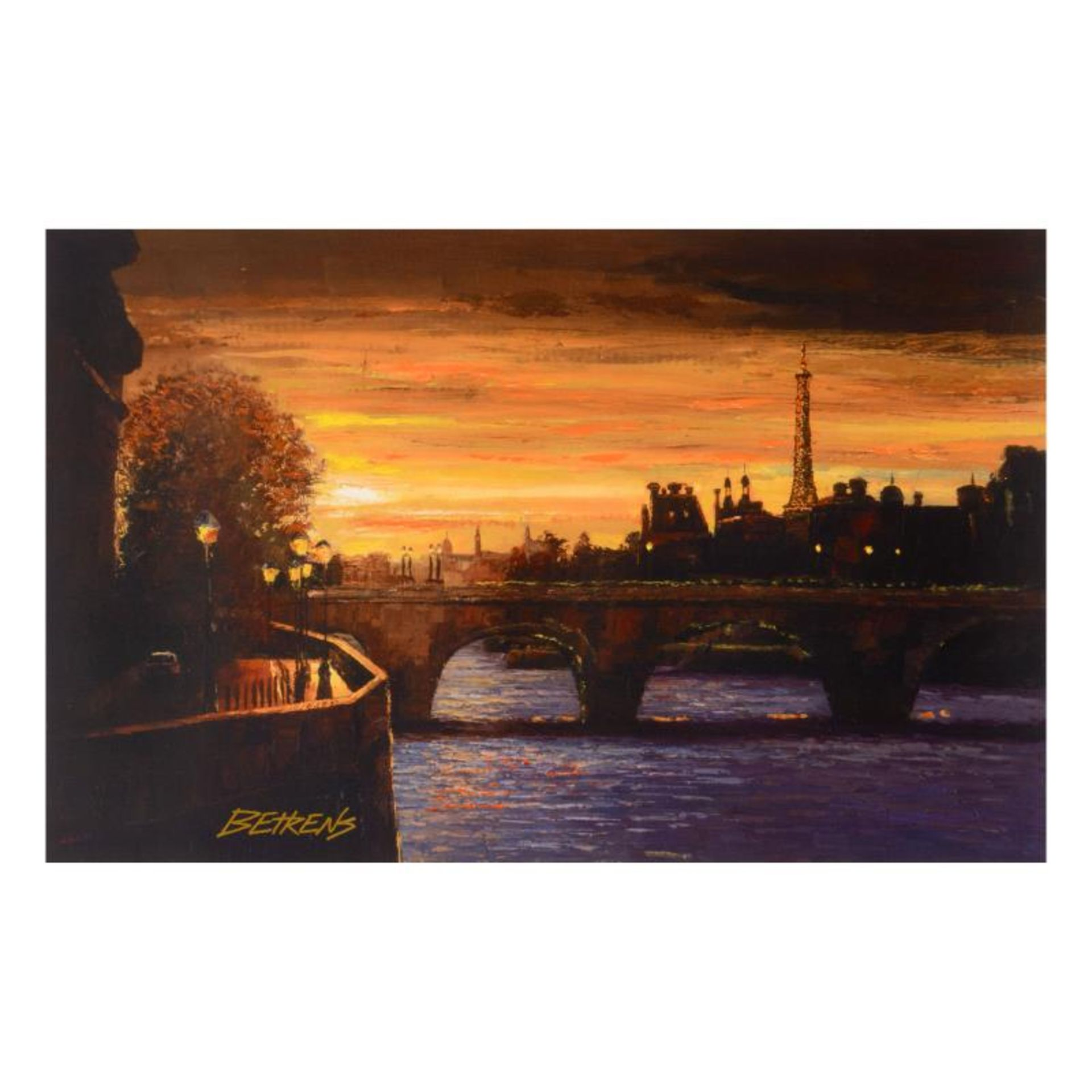 """Howard Behrens (1933-2014), """"Twilight on the Seine II"""" Limited Edition Hand Embe"""