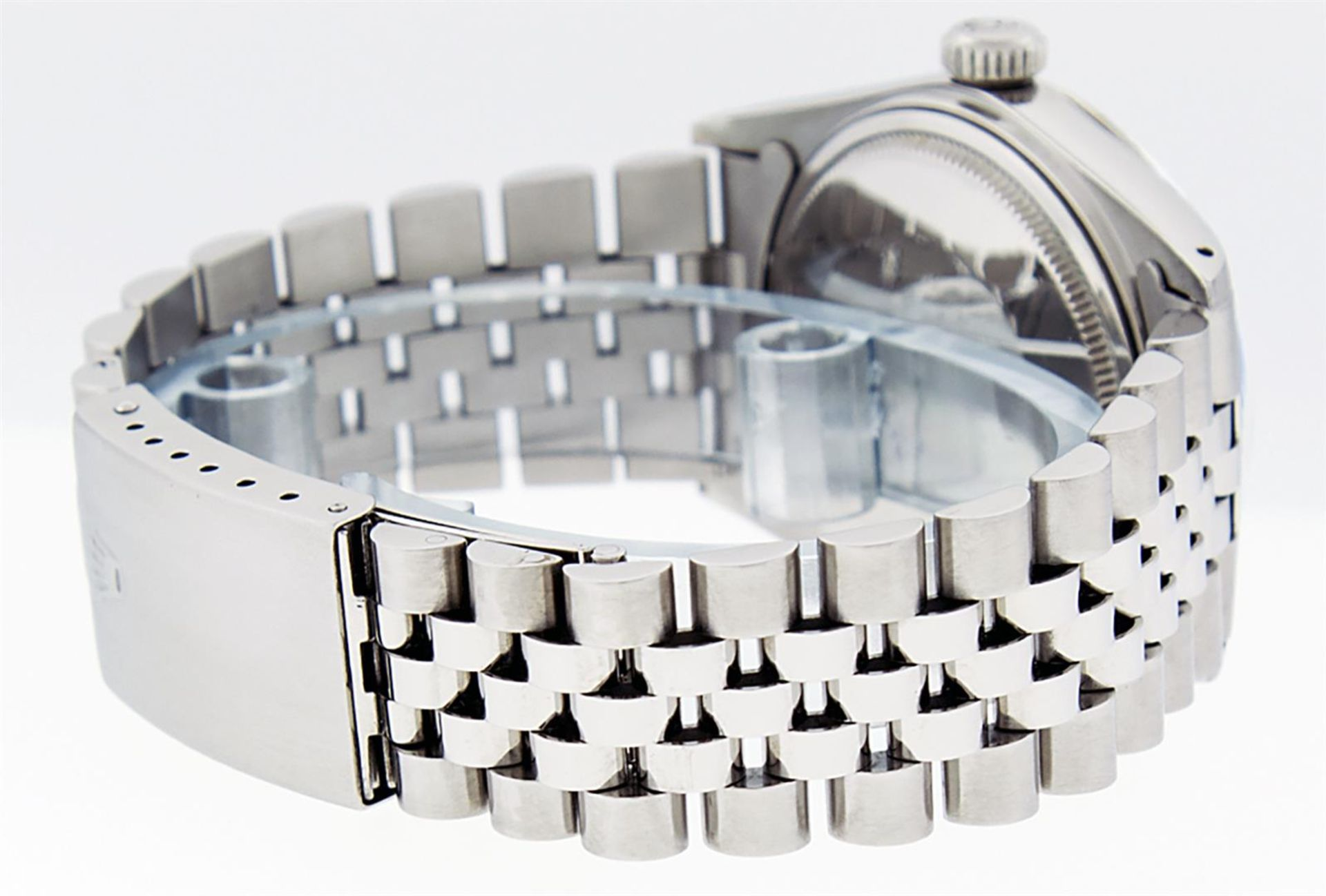 Rolex Ladies 2 Tone Pink MOP Diamond & Sapphire String Datejust Wristwatch - Image 4 of 9