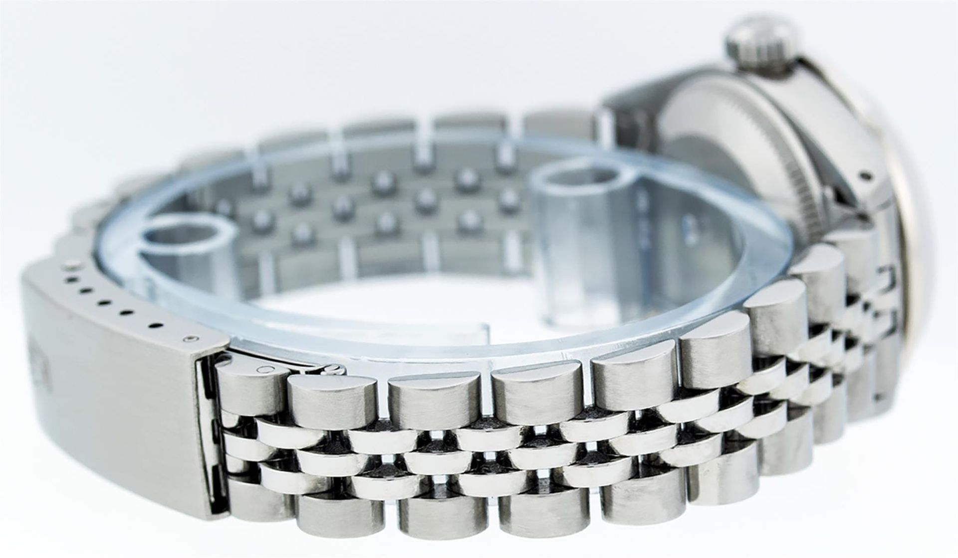 Rolex Ladies Stainless Steel MOP Diamond & Ruby 26MM Datejust Wristwatch - Image 4 of 9