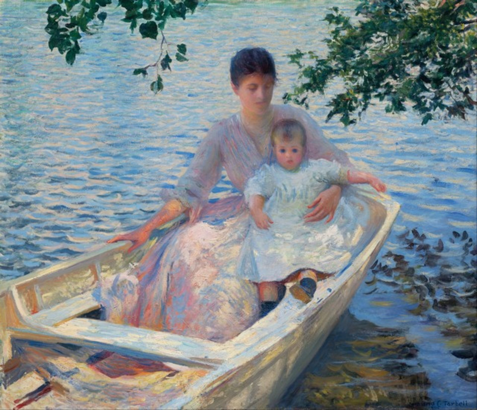 Tarbell - Mother and Child in a Boat