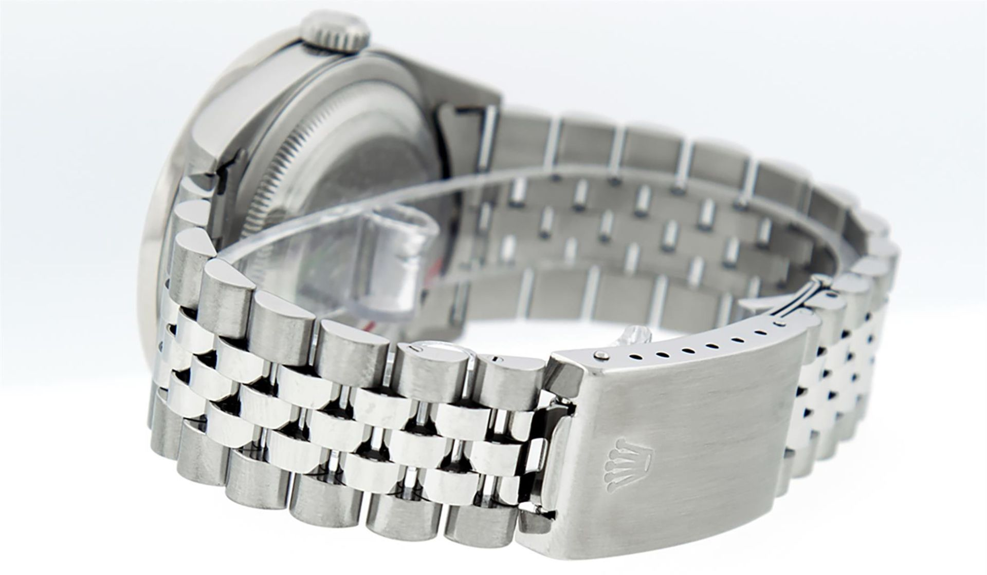 Rolex Mens Stainless Steel Mother Of Pearl Diamond 36MM Datejust Wristwatch - Image 8 of 8