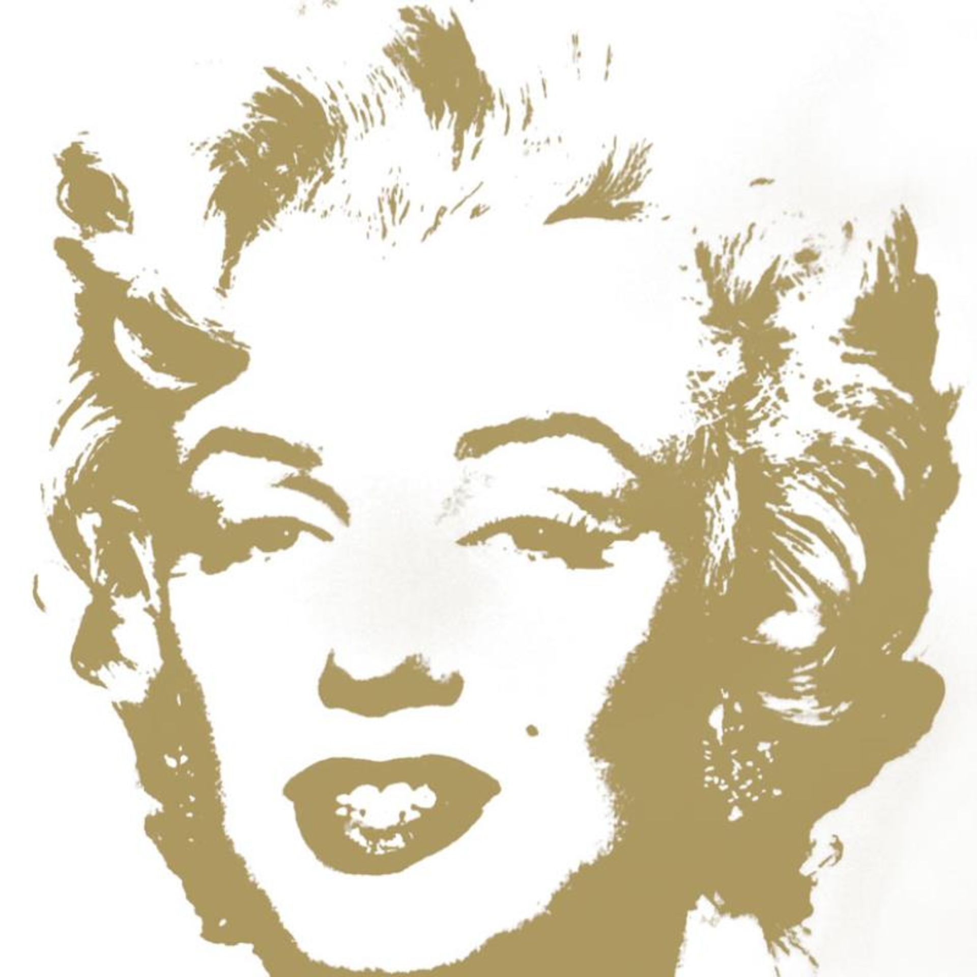 "Andy Warhol ""Golden Marilyn 11.41"" Limited Edition Silk Screen Print from Sunday - Image 2 of 2"