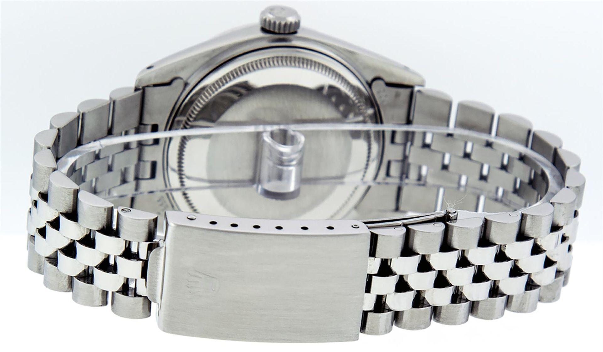 Rolex Mens Stainless Steel Diamond Lugs & Ruby Datejust Wristwatch - Image 5 of 8