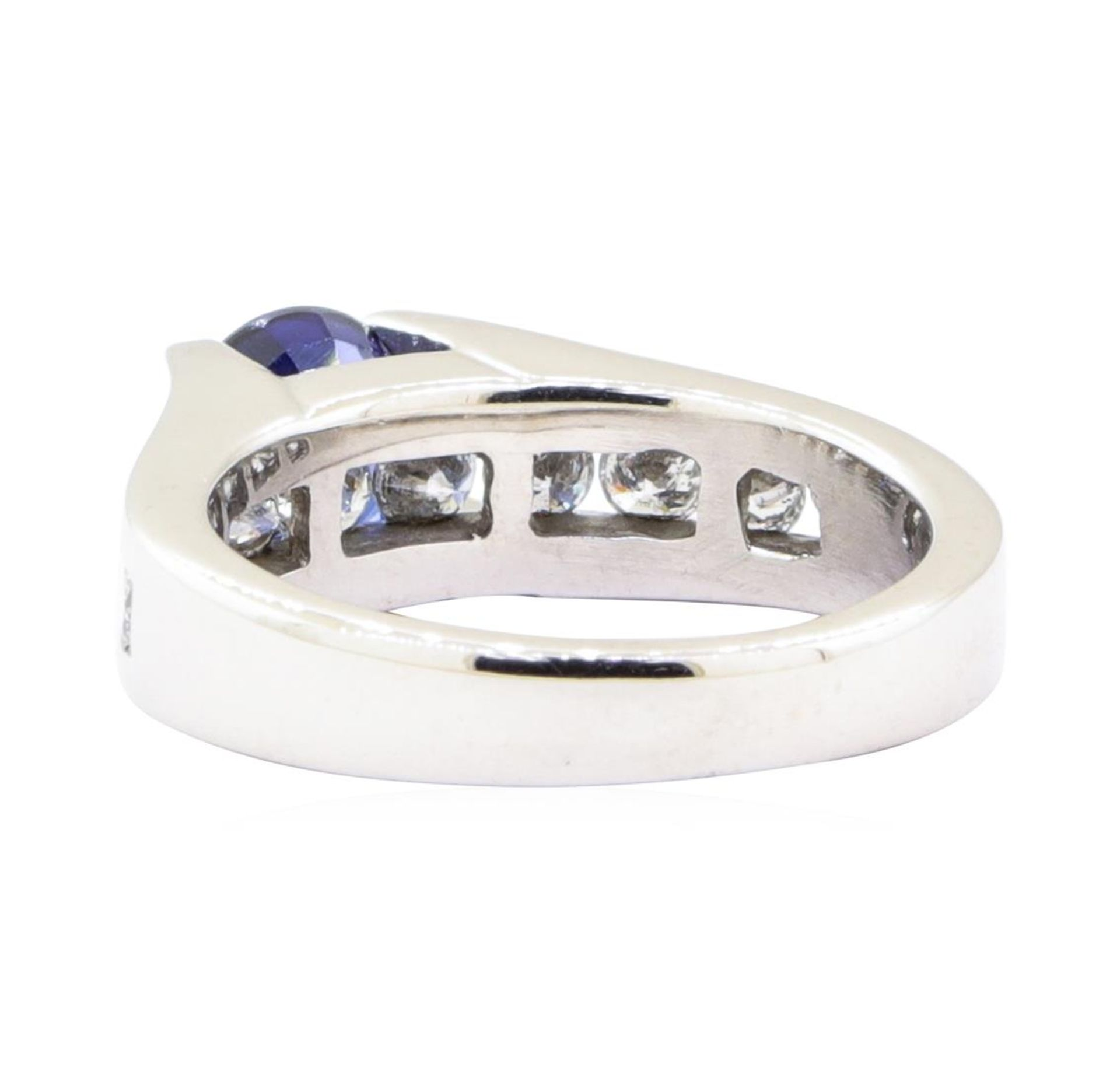 2.05ctw Sapphire and Diamond Ring - 14KT White Gold - Image 3 of 4
