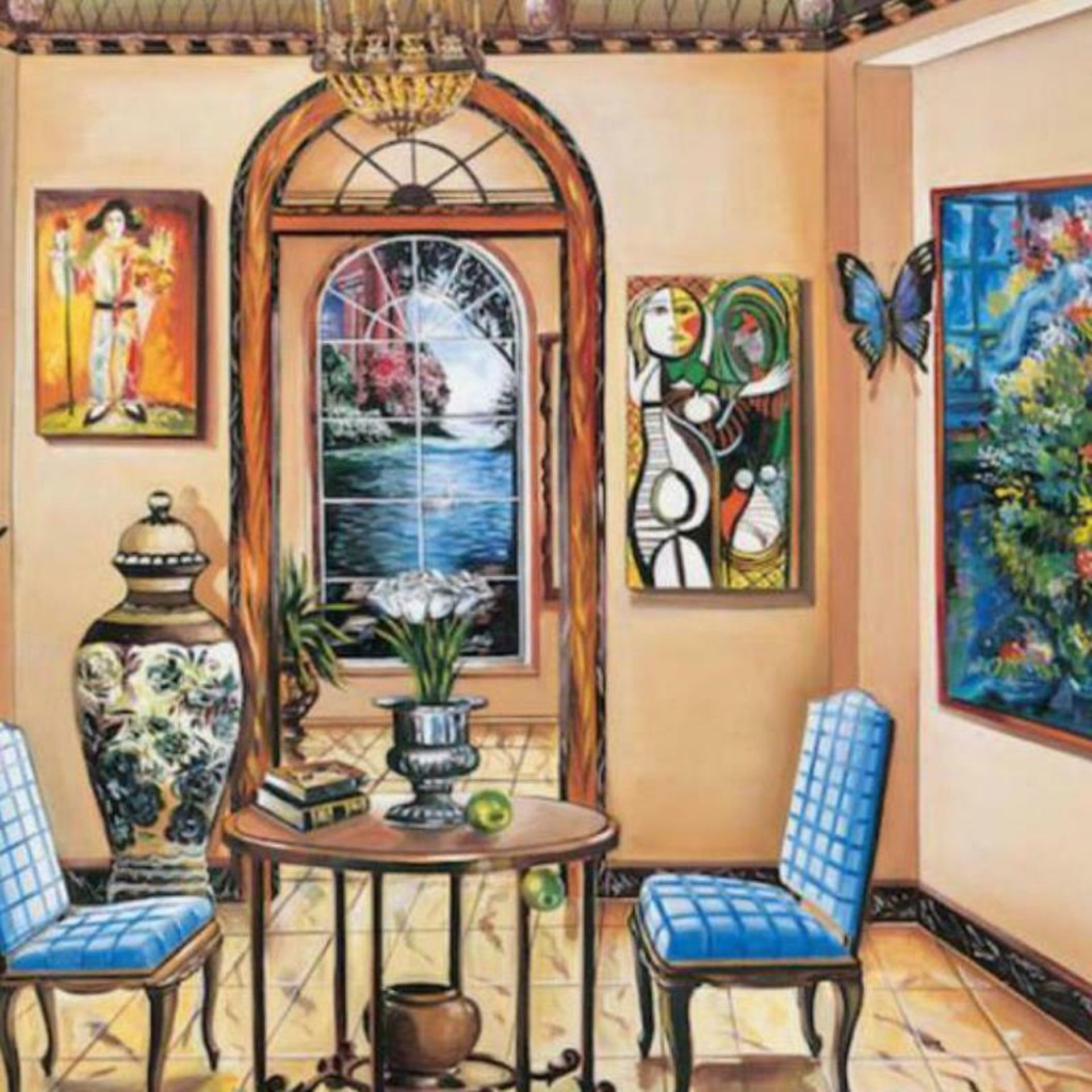 """Alexander Astahov, """"Dining with the Master"""" Hand Signed Limited Edition Giclee o - Image 2 of 2"""