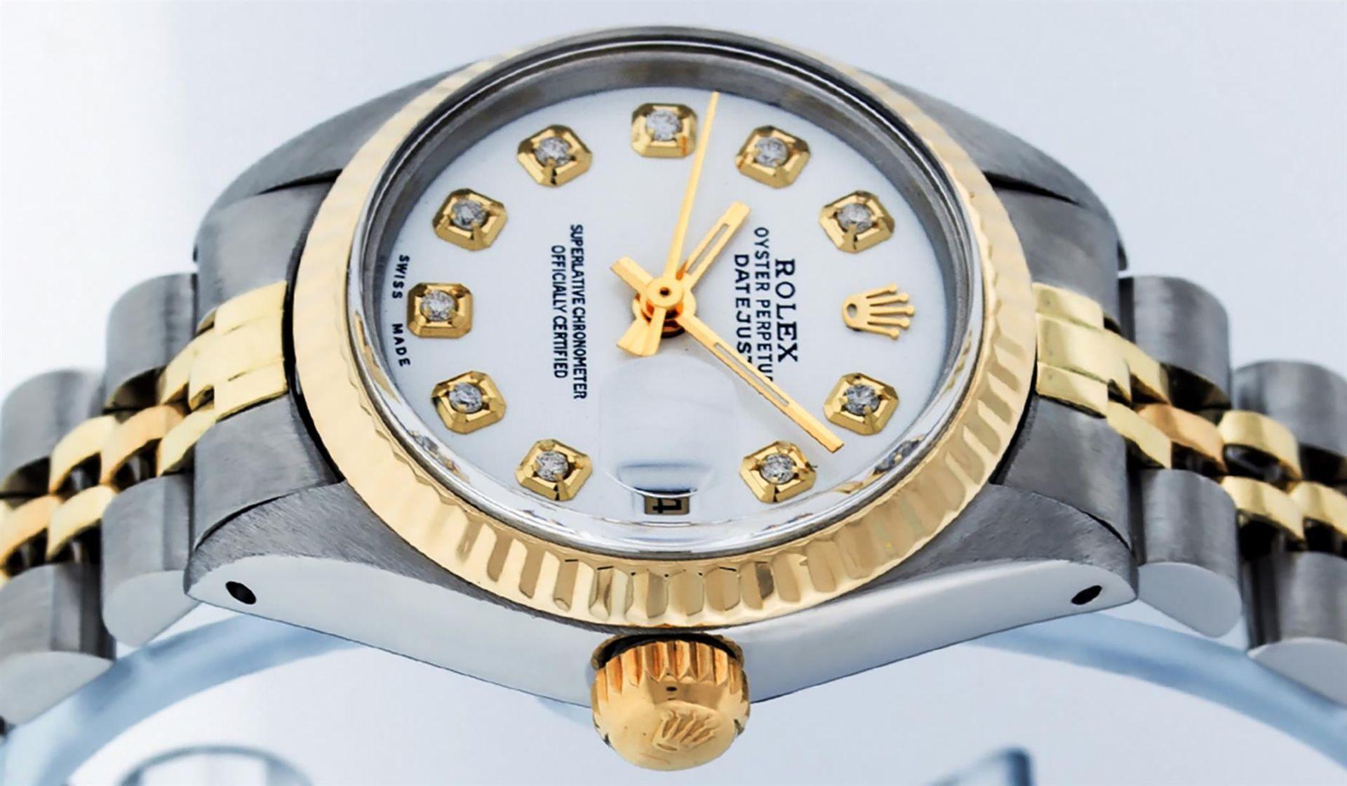 Rolex Ladies 2 Tone White Diamond 26MM Datejust Wristwatch - Image 6 of 8