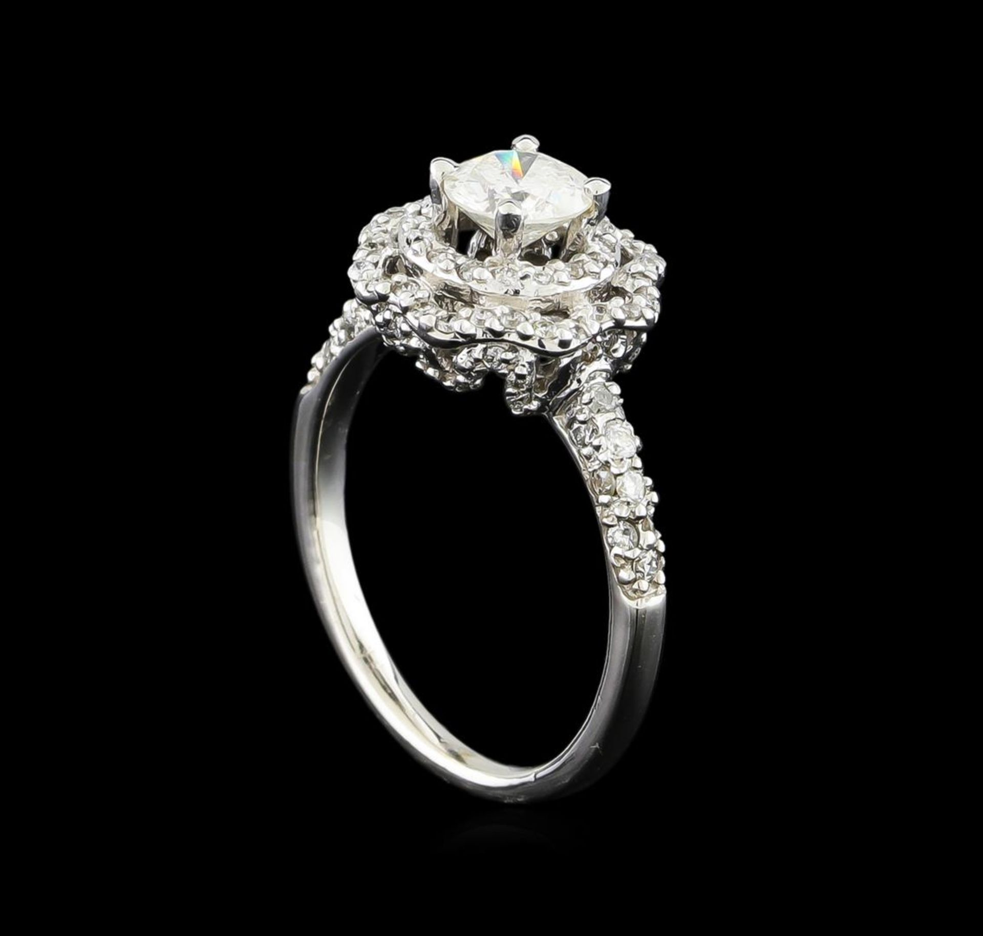 14KT White Gold 0.95 ctw Diamond Ring - Image 4 of 5