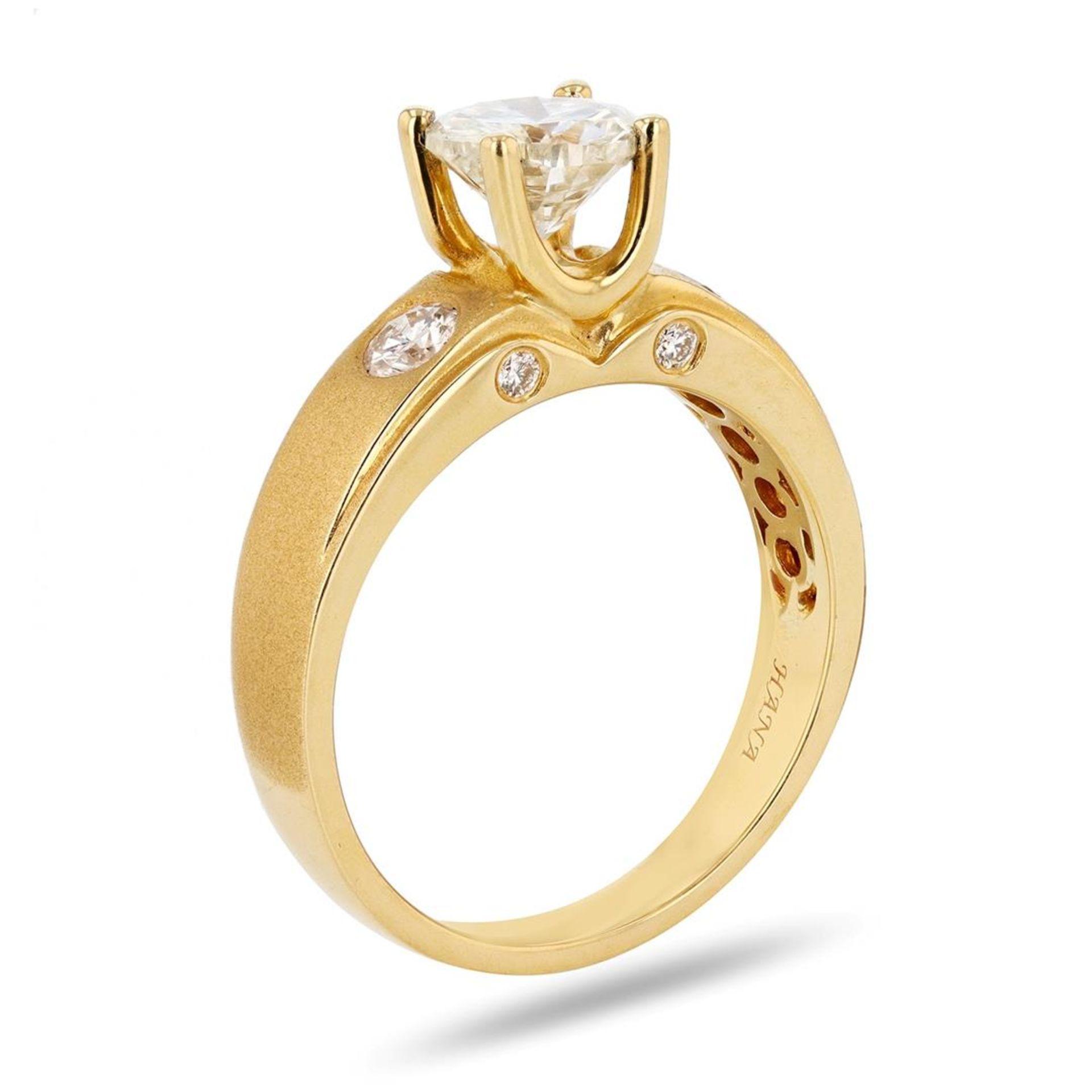 0.97ct SI2 Diamond 18K Yellow Gold Unity Ring (1.26ctw Diamonds) - Image 2 of 4