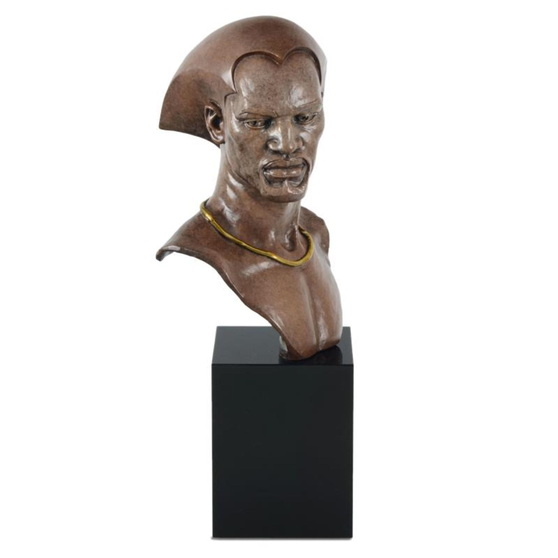 """Thomas Blackshear, """"Remembering"""" Limited Edition Mixed Media Sculpture on Marble - Image 3 of 3"""