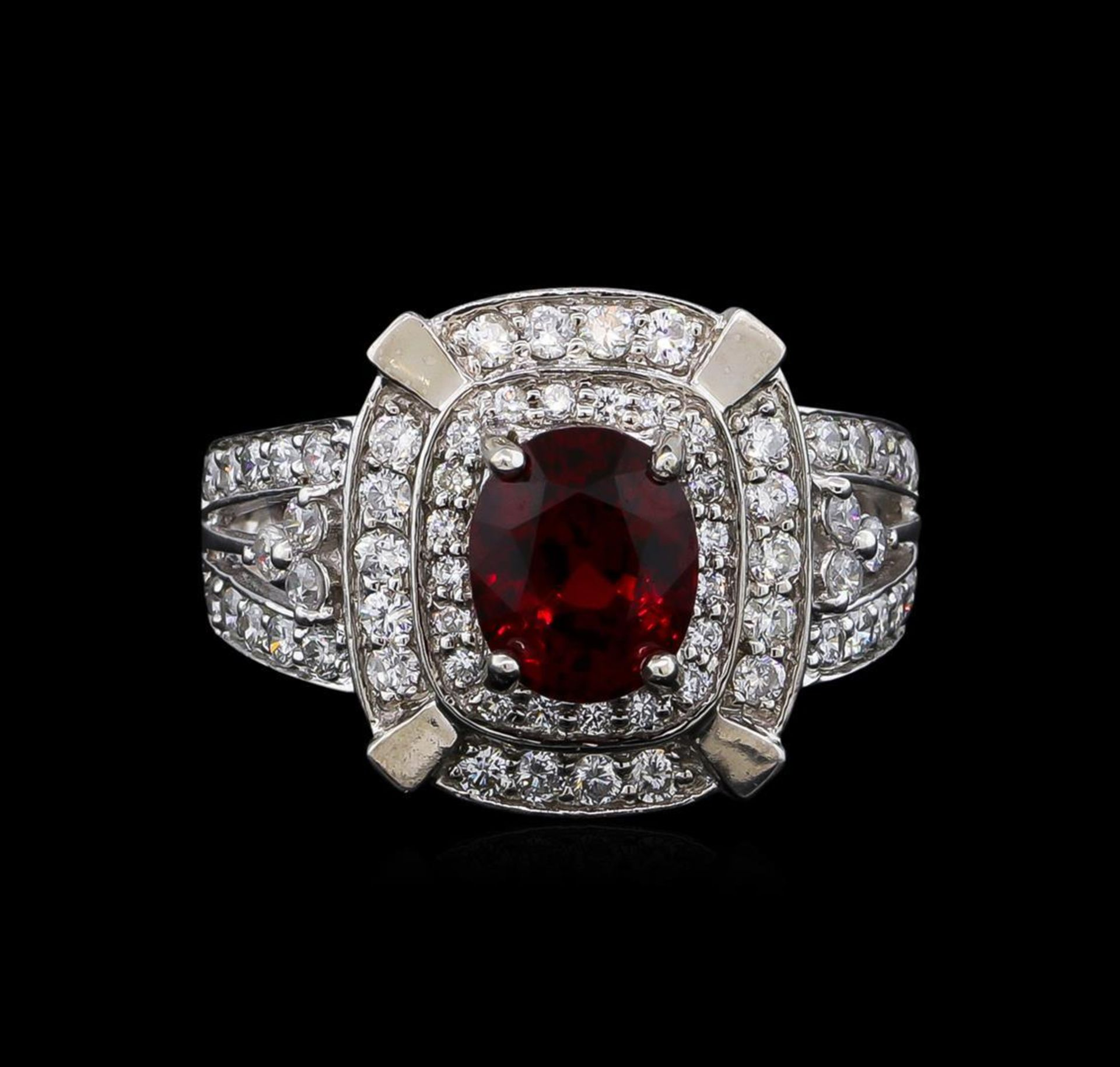 14KT White Gold 2.67 ctw Spinel and Diamond Ring - Image 2 of 5