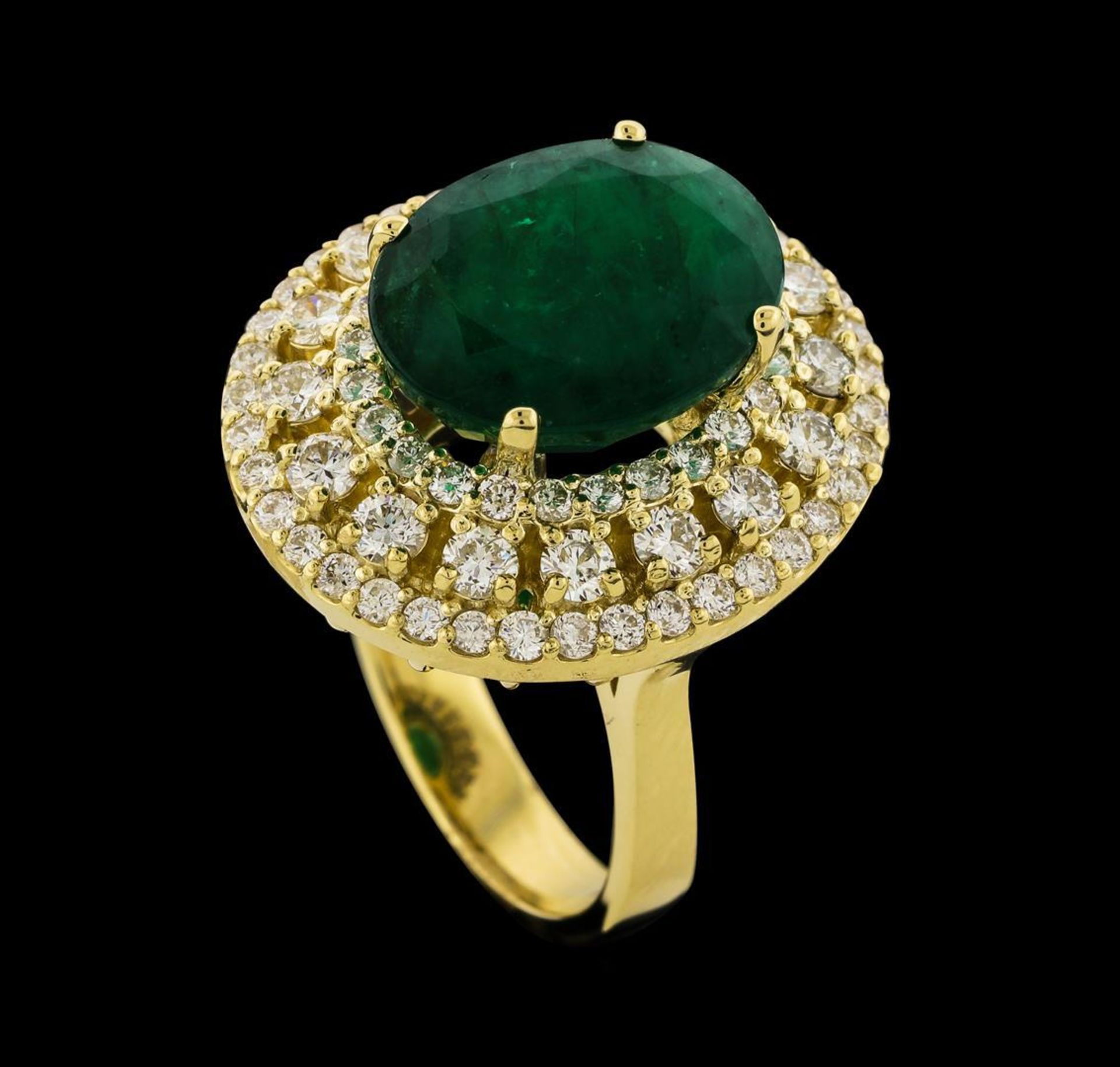 6.63 ctw Emerald and Diamond Ring - 14KT Yellow Gold - Image 4 of 5