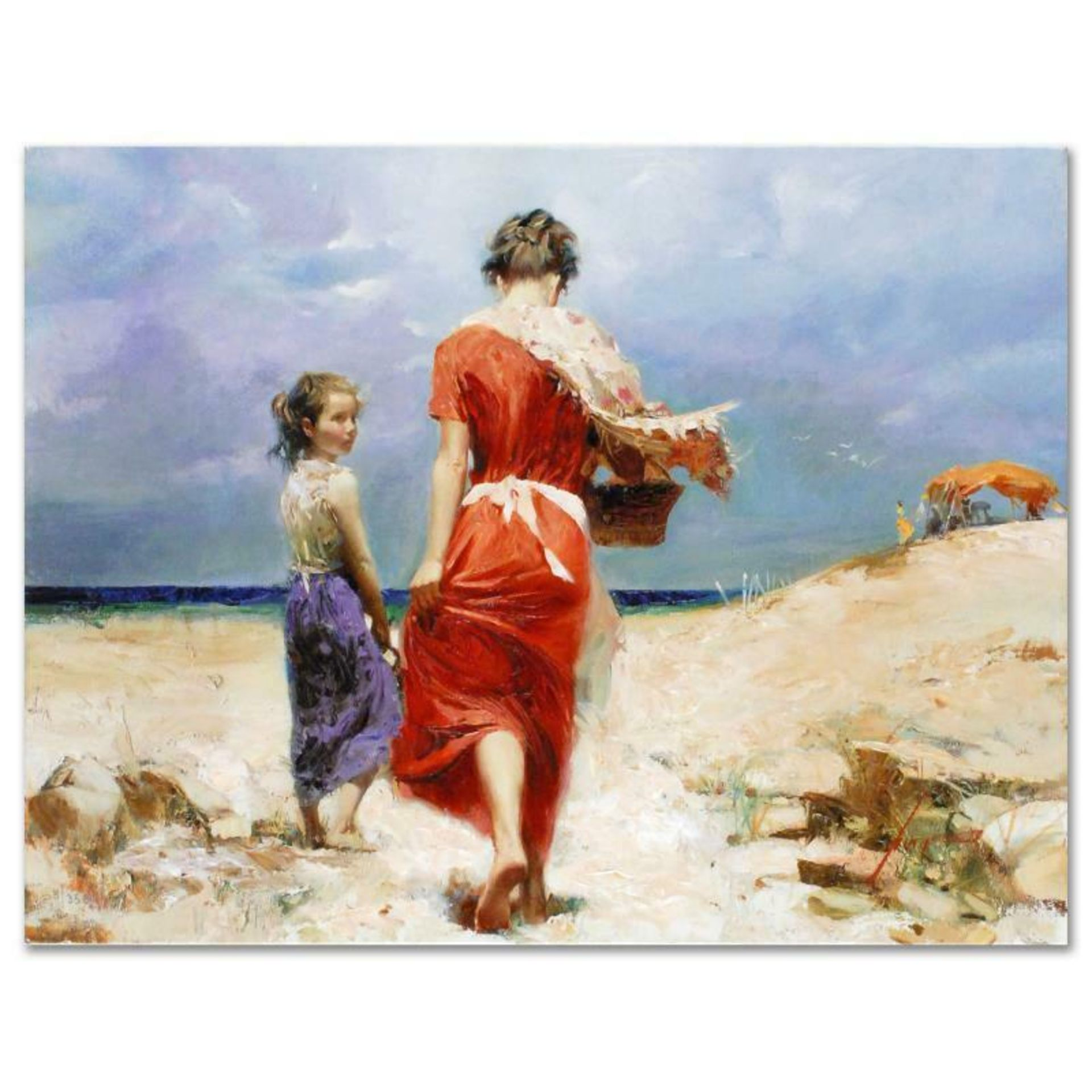 "Pino (1939-2010), ""Summer Retreat"" Artist Embellished Limited Edition on Canvas,"