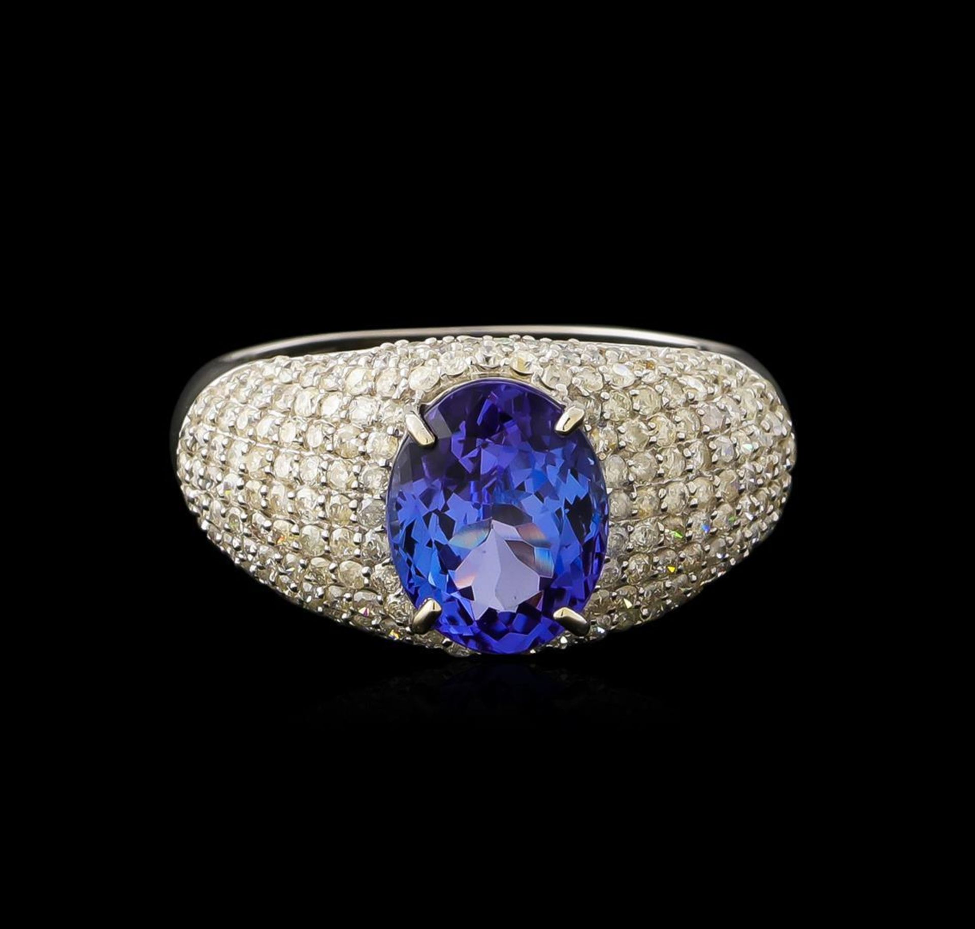2.77ct Tanzanite and Diamond Ring - 14KT White Gold - Image 2 of 5