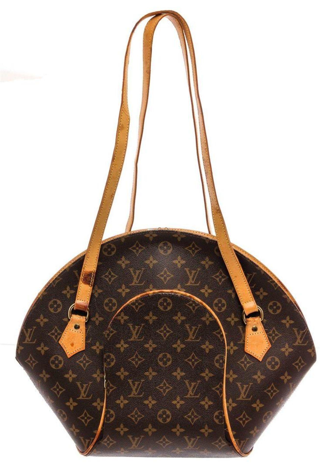 Louis Vuitton Monogram Canvas Leather Ellipse Shopper Bag