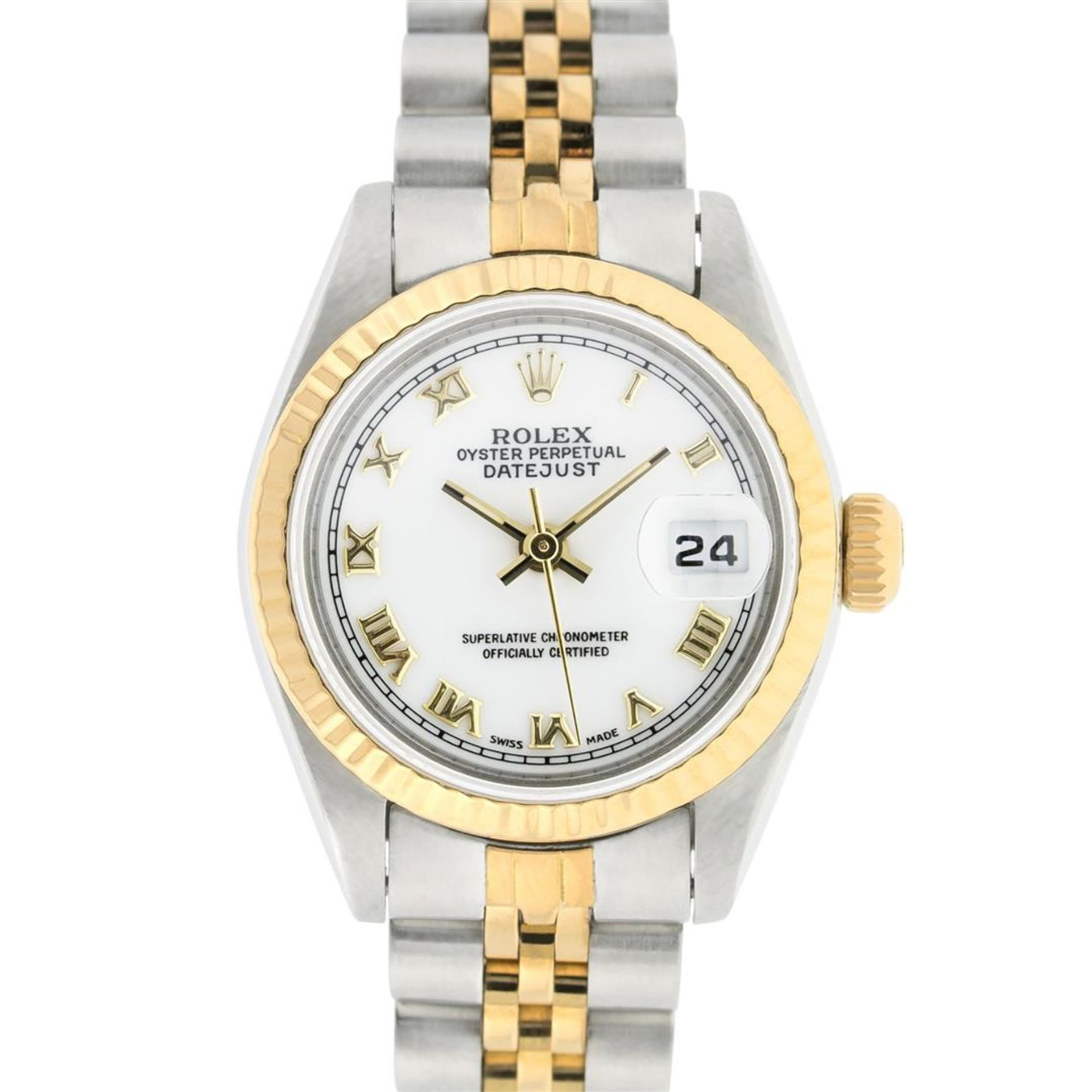 Rolex Ladies 2 Tone White Roman 26MM Datejust Wristwatch - Image 2 of 8